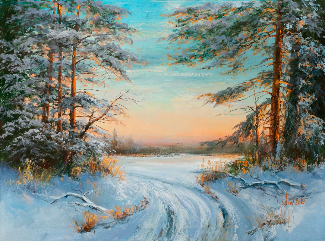 Alexander Alekseevich Lednev. Winter morning