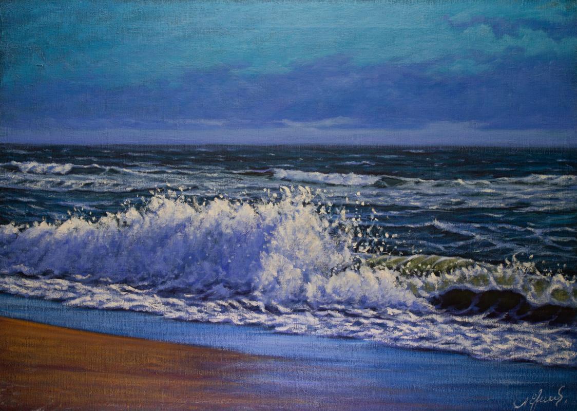 Valery Levchenko. № 617  Морской пейзаж.
