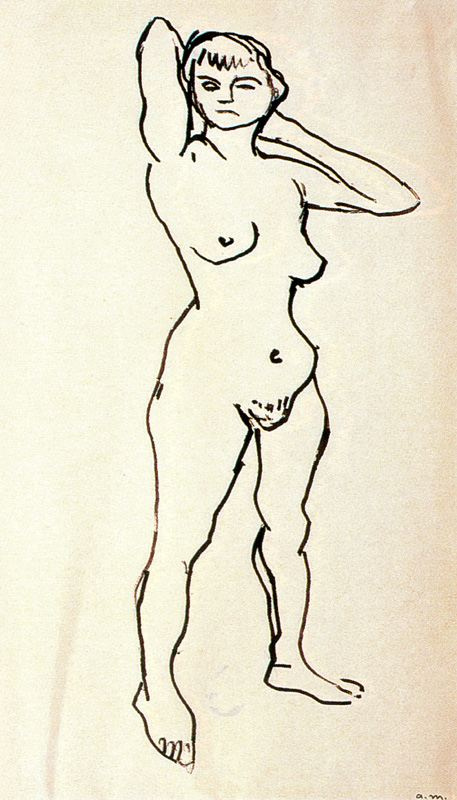 Пьер-Альбер Марке. Женщина с поднятыми руками