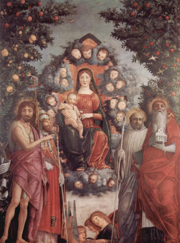Андреа Мантенья. Мадонна со святыми