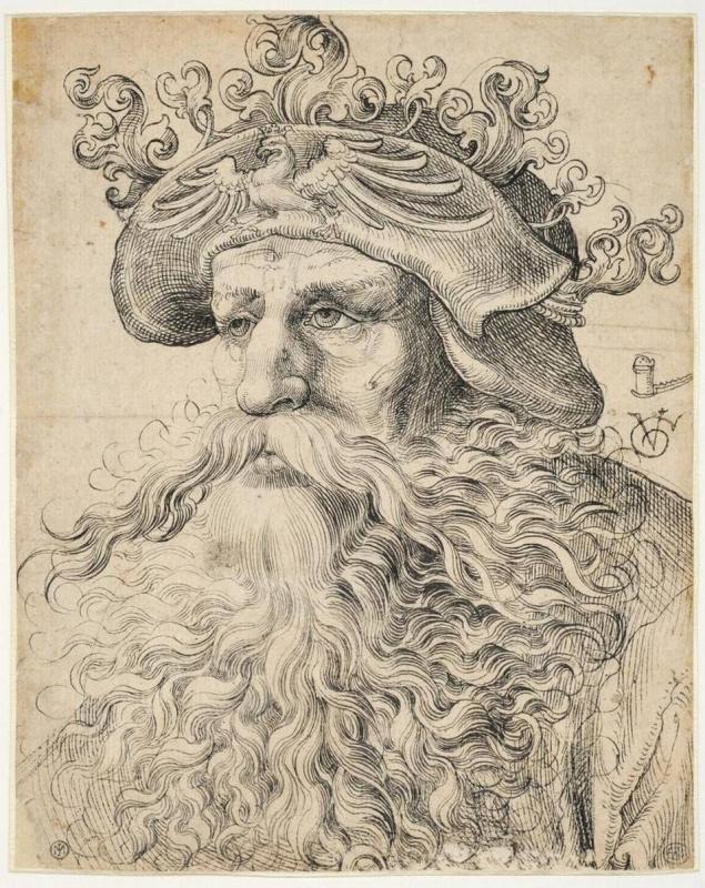 Голова бородатого мужчины в шляпе