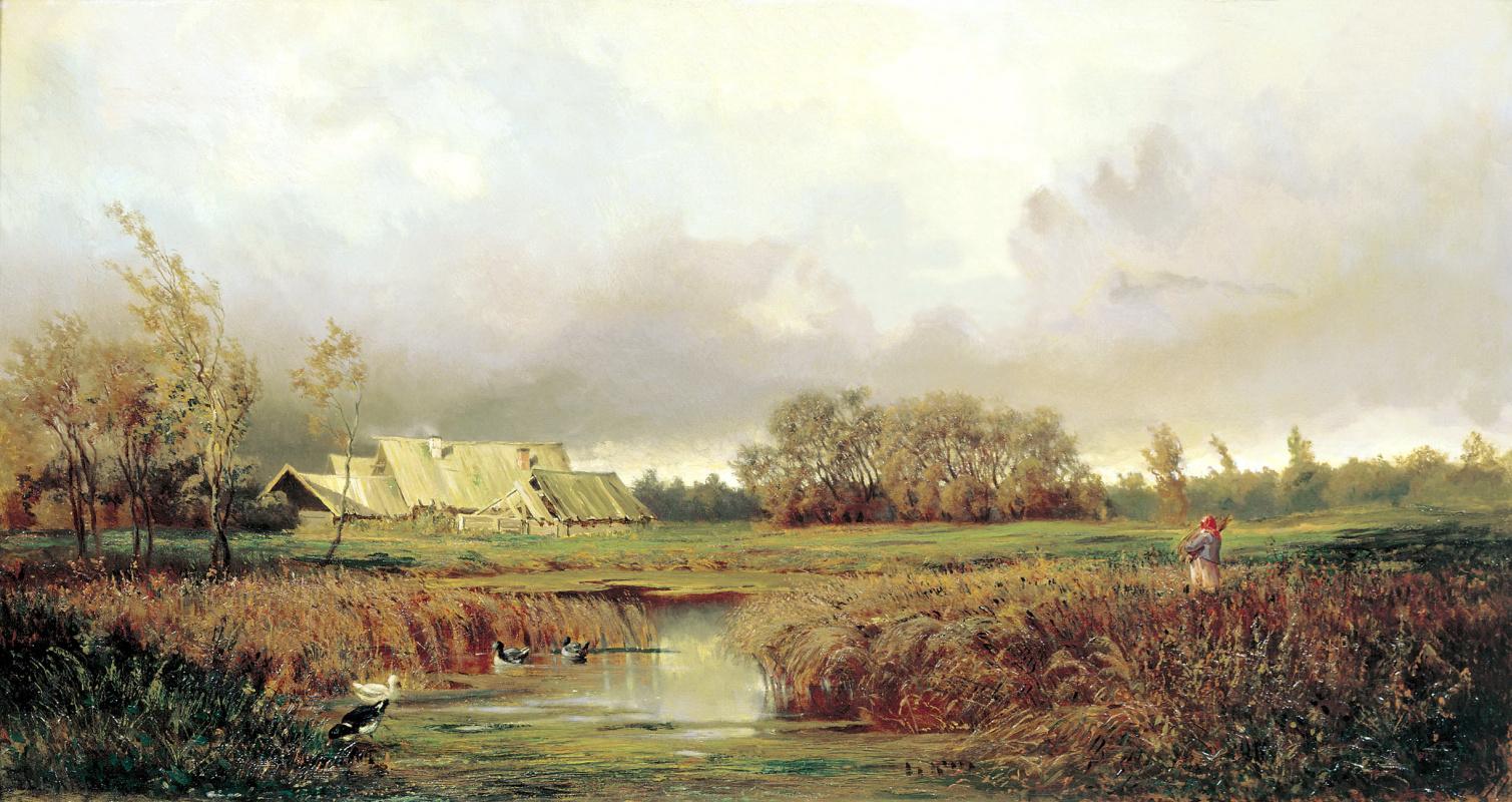 Efim Efimovich Volkov. The swamp in the autumn