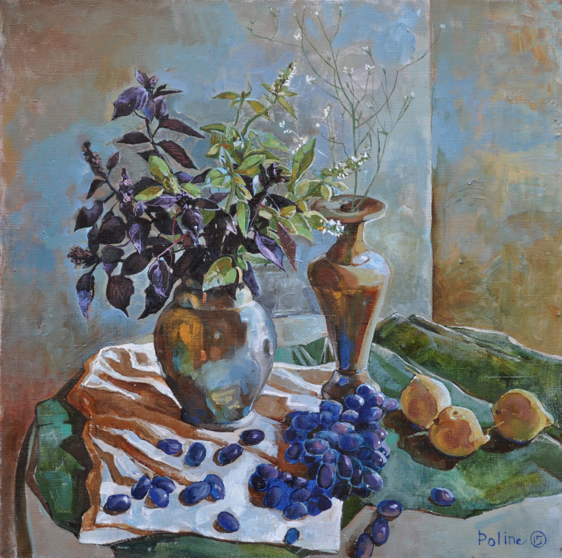 Полина Кузнецова. Gold with blue