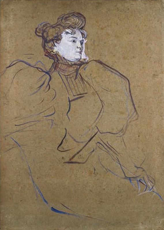 Henri de Toulouse-Lautrec. Madame Natanson