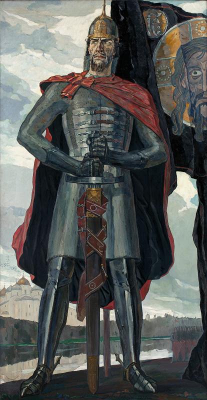 """Pavel Dmitrievich Korin. Alexander Nevsky. The Central part of the triptych """"Alexander Nevsky"""""""