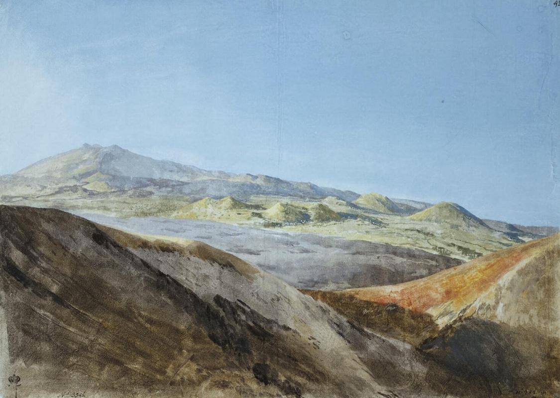 Жан-Пьер-Лоран Уэль. Вид Этны близ вершины Монте Россо