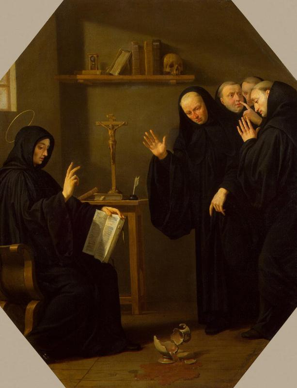 Филипп де Шампень. Сцена из жизни Святого Бенедикта Нурсийского