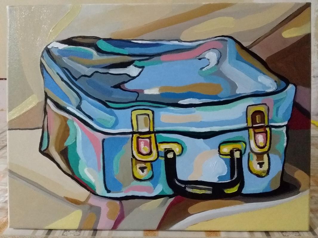 Armen Sayamyan. Suitcase with flowers