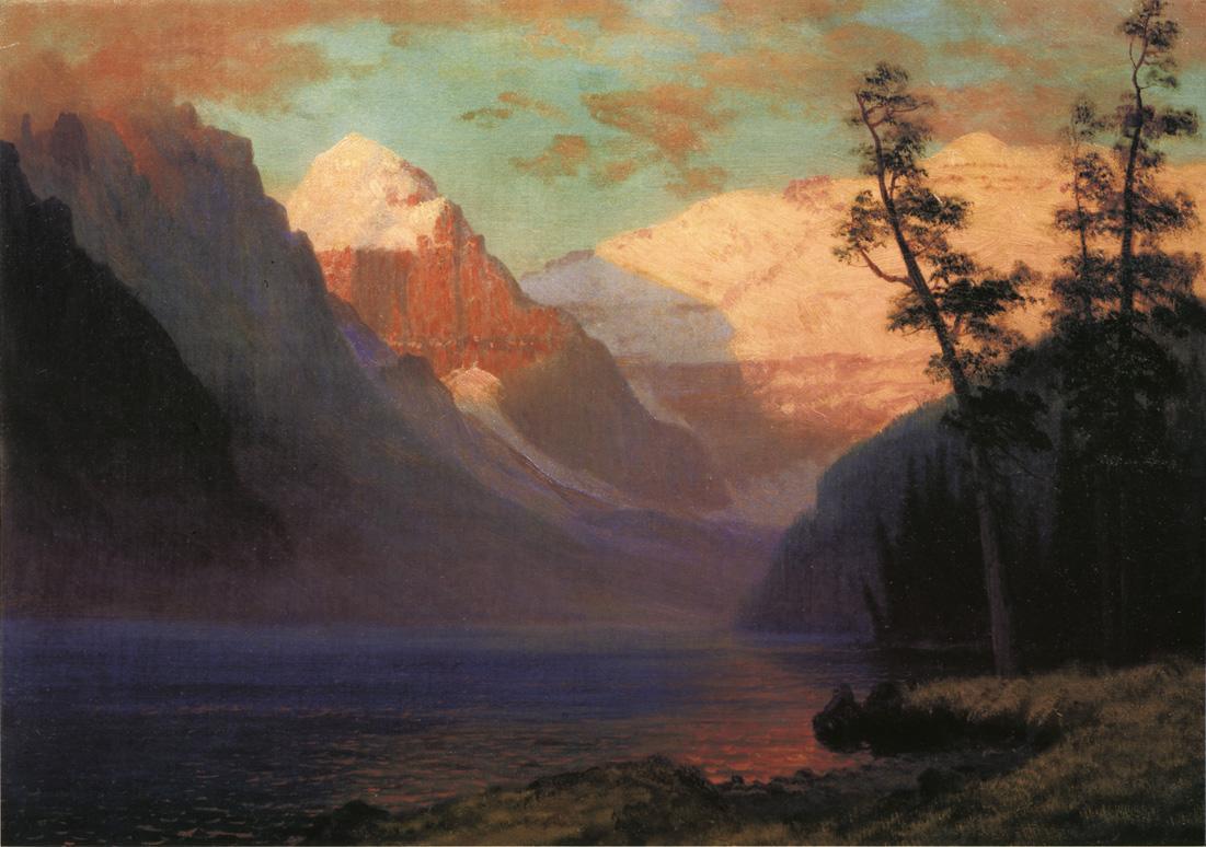 Альберт Бирштадт. Вечерний свет. Озеро Луиз