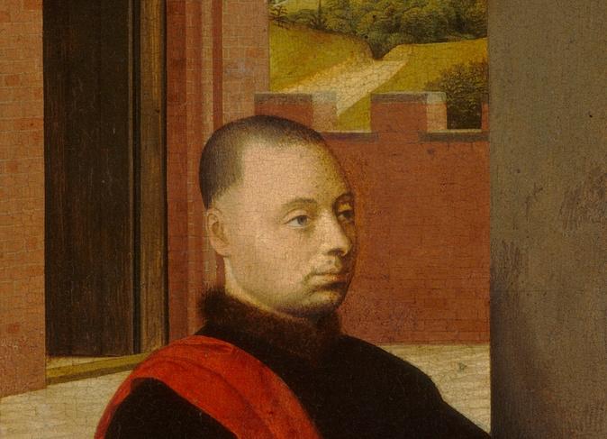 Petrus Christus. Portrait of a man. Fragment