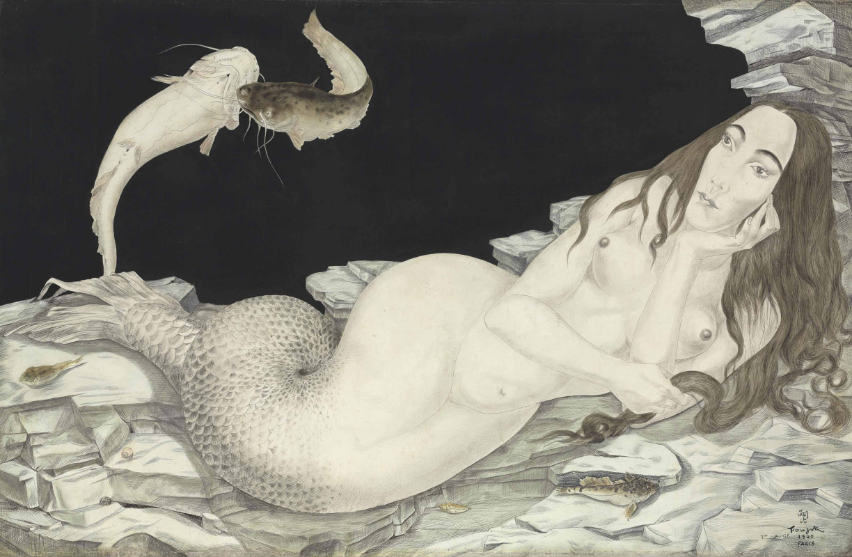 Tsuguharu Foujita (Léonard Fujita). The Siren