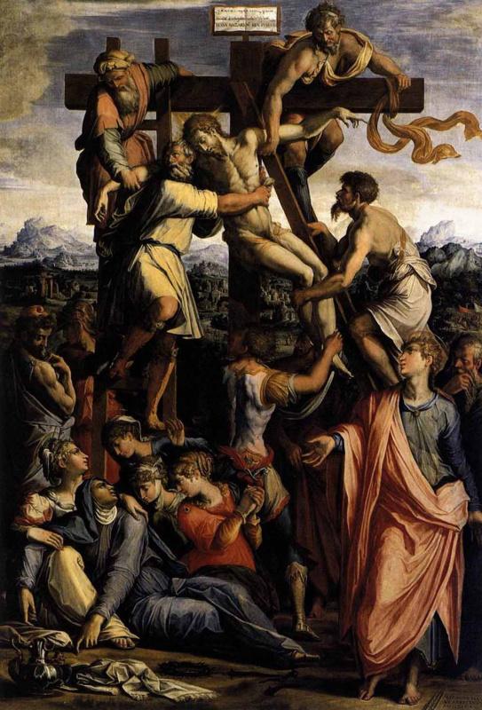 Джорджо Вазари. Снятие с Креста