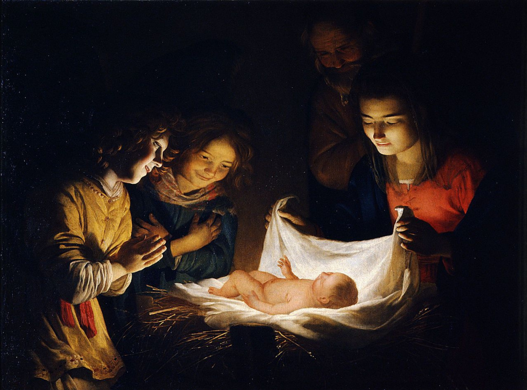 Gerrit van Honthorst. Worship The Baby