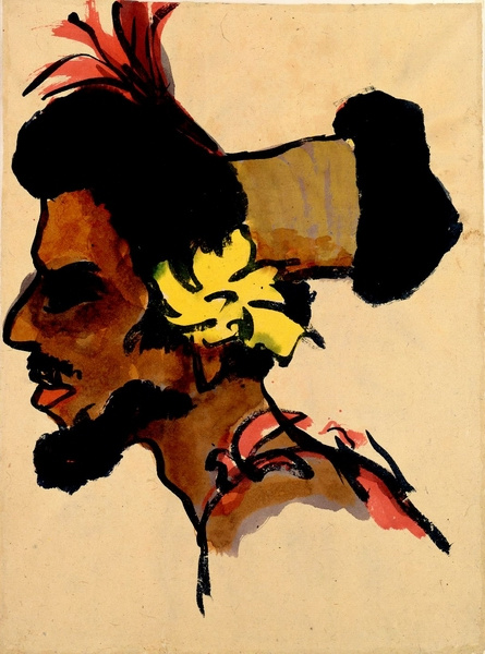 Emil Nolde. Portrait of a man from the South island