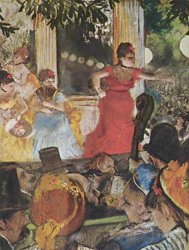 Edgar Degas. Concert at cafe Ambassador