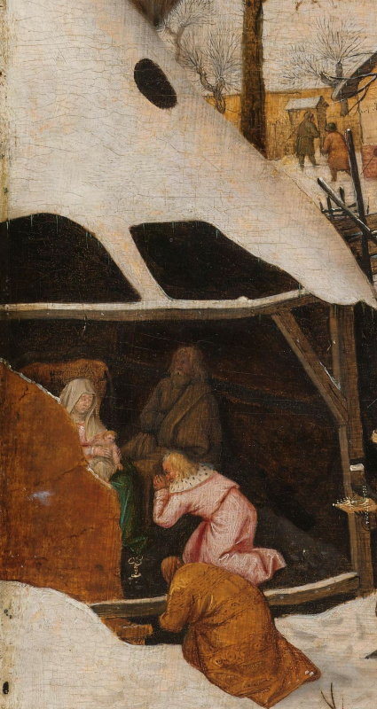 Peter Brueghel The Younger. The adoration of the Magi. Fragment. Virgin with the baby