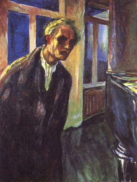 Edvard Munch. A self-portrait. Night wanderer