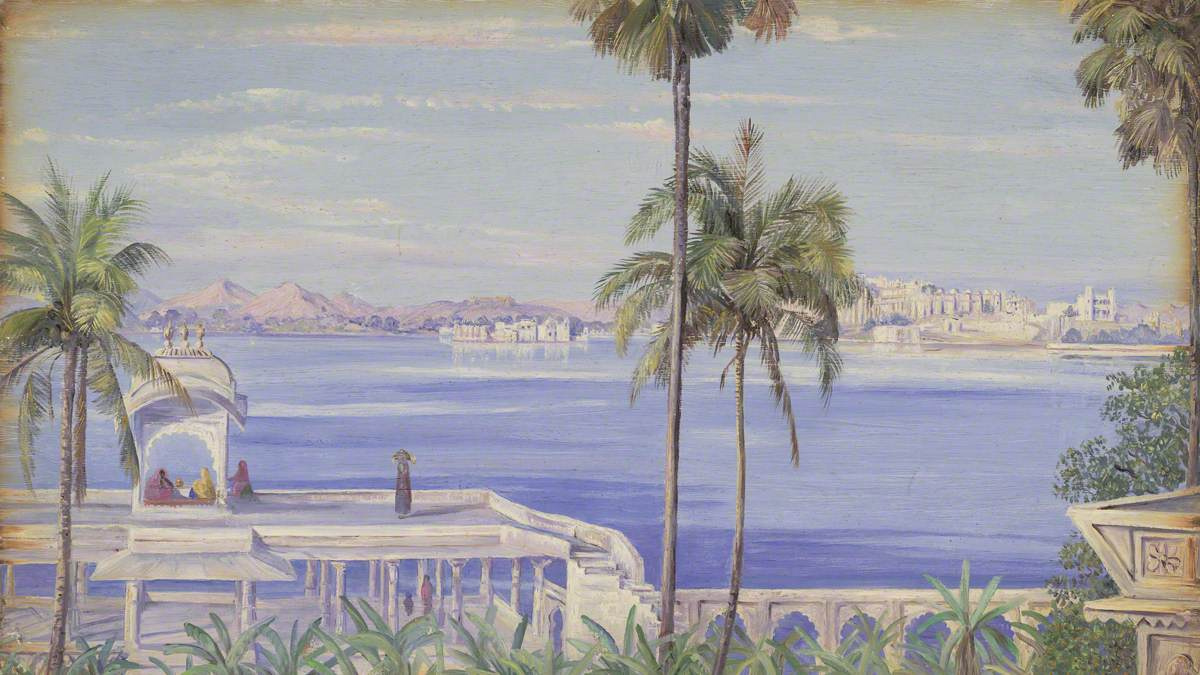 Marianna North. View of Udaipur from Yagmandir Island, India