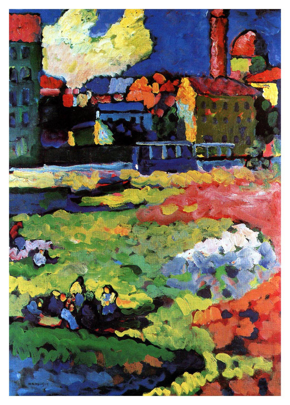 Wassily Kandinsky. Munich with the church of St. Ursula