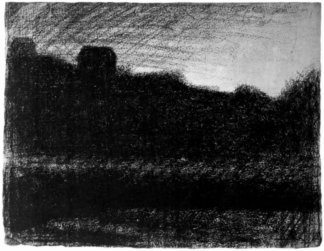 Georges Seurat. House on the hill