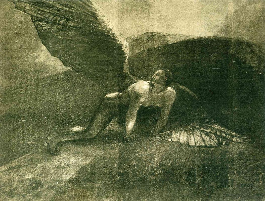 Одилон Редон. Падший ангел