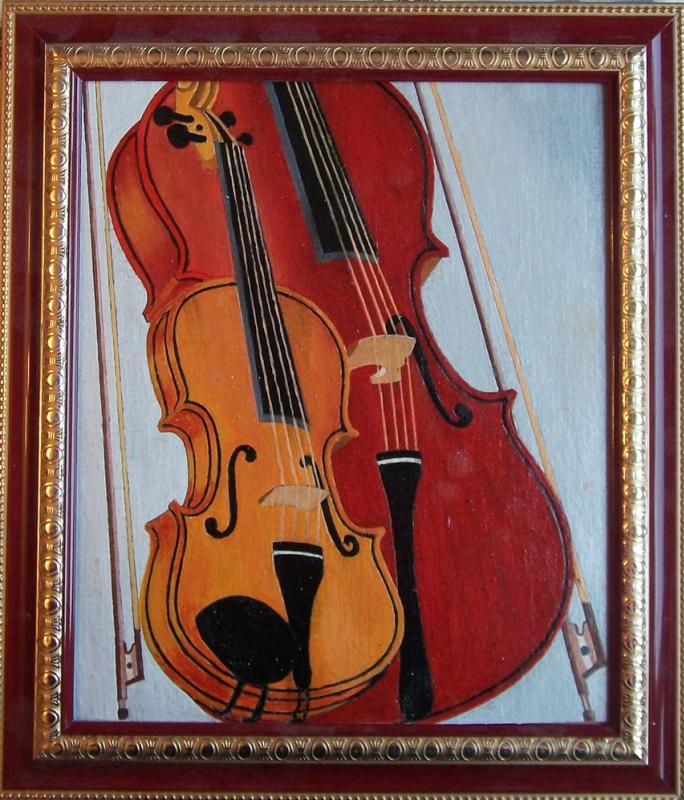 Виктор Петрович Бурмин. Дуэт  скрипки  и  виолончели.