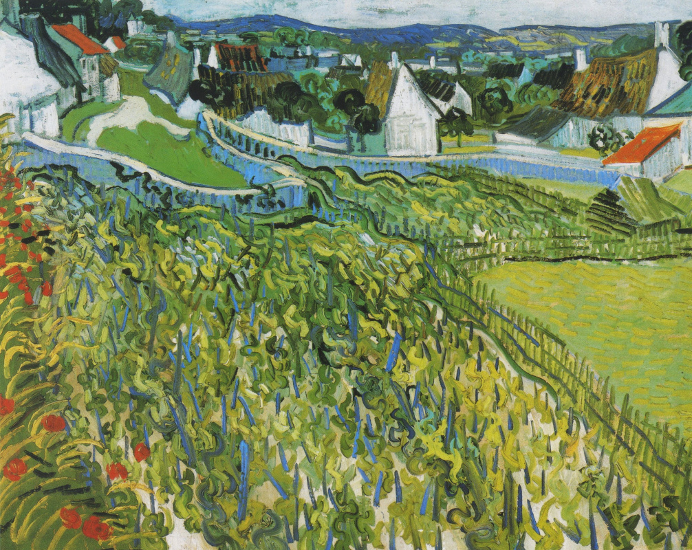 Vincent van Gogh. The vineyards and views over