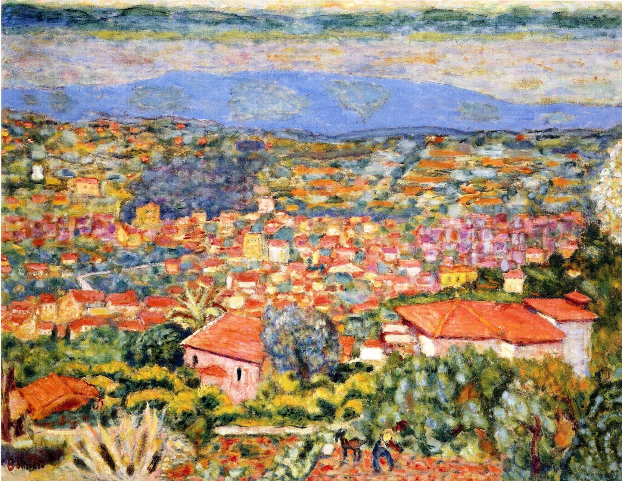 Pierre Bonnard. View of Le Cannet