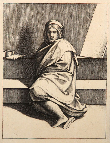 Маркантонио Венециано Агостино Раймонди. Портрет Рафаэля