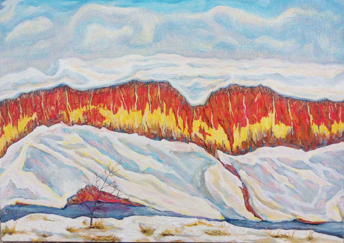 Vagif Asadullaevich Abdullayev. Winter colors of the sun