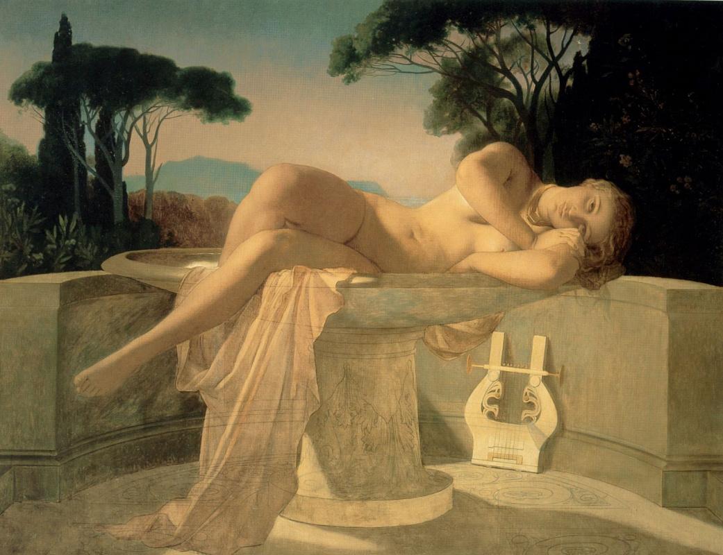 Поль Деларош. Девушка в фонтане