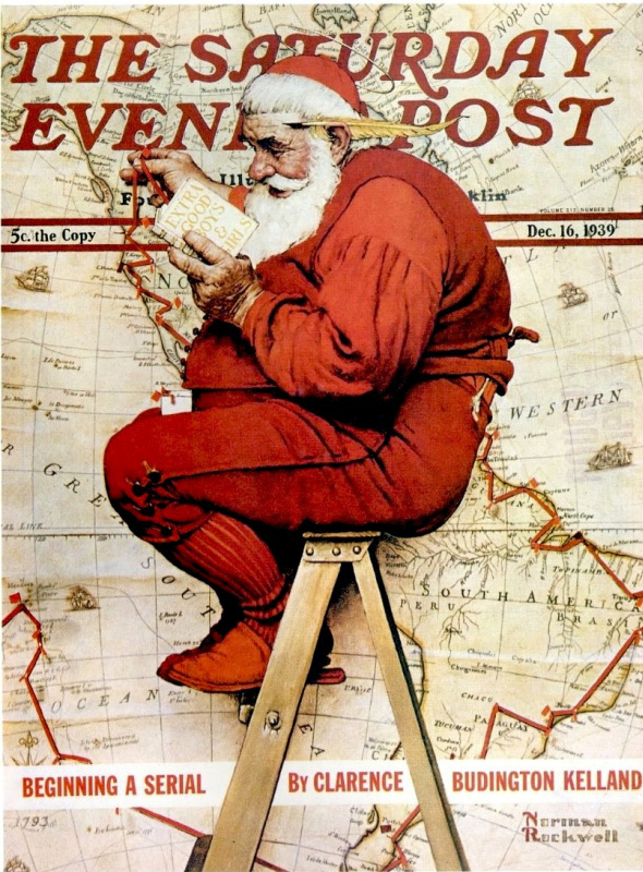 """Norman Rockwell. Obedient guys. Cover of """"The Saturday Evening Post"""" (16 Dec 1939)"""