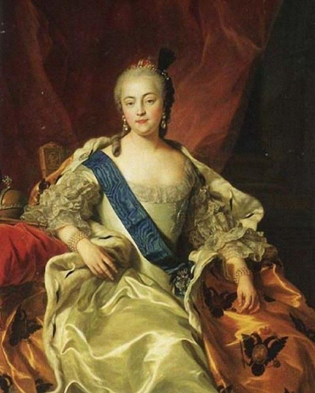 Charles Andre van Loo. Portrait of Empress Elizabeth Petrovna