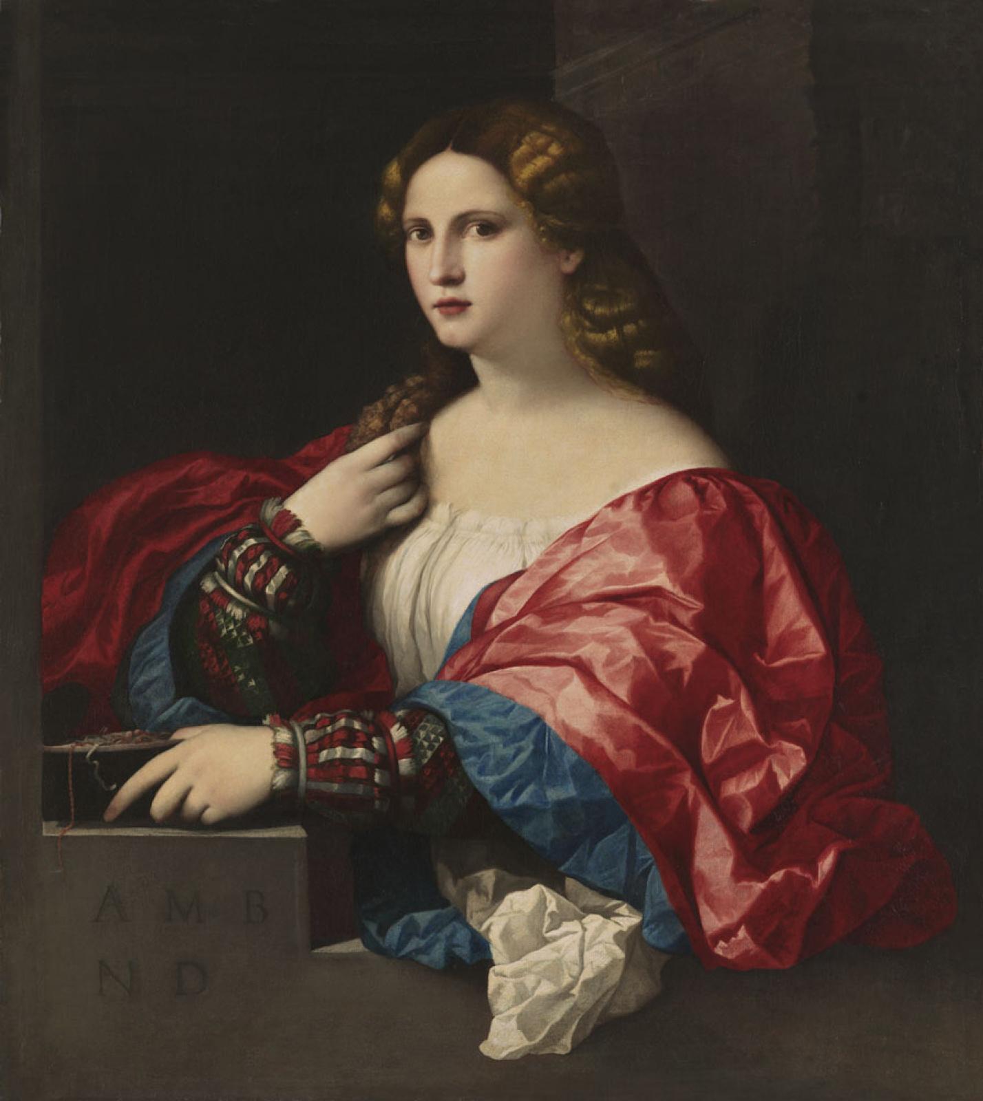 Джакомо Пальма Старший. Портрет девушки, или Красавица