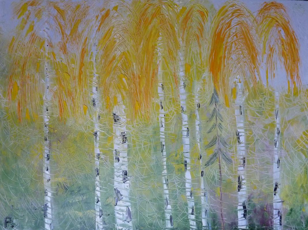 Svyatoslav Ryabkin. Golden birches Golden birches