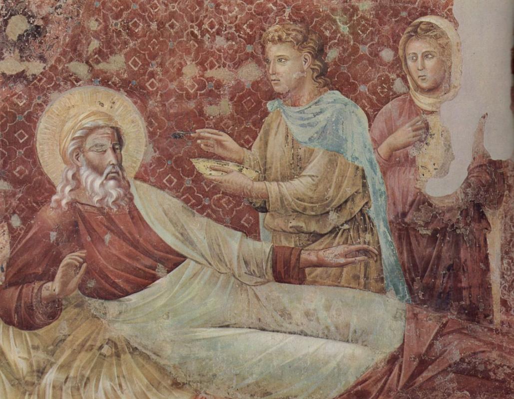 Джотто ди Бондоне. Исаак отвергает Исава