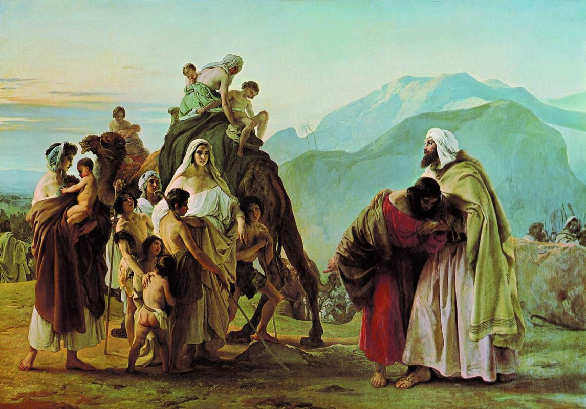 Francesco Ayets. Meeting of Jacob and Esau