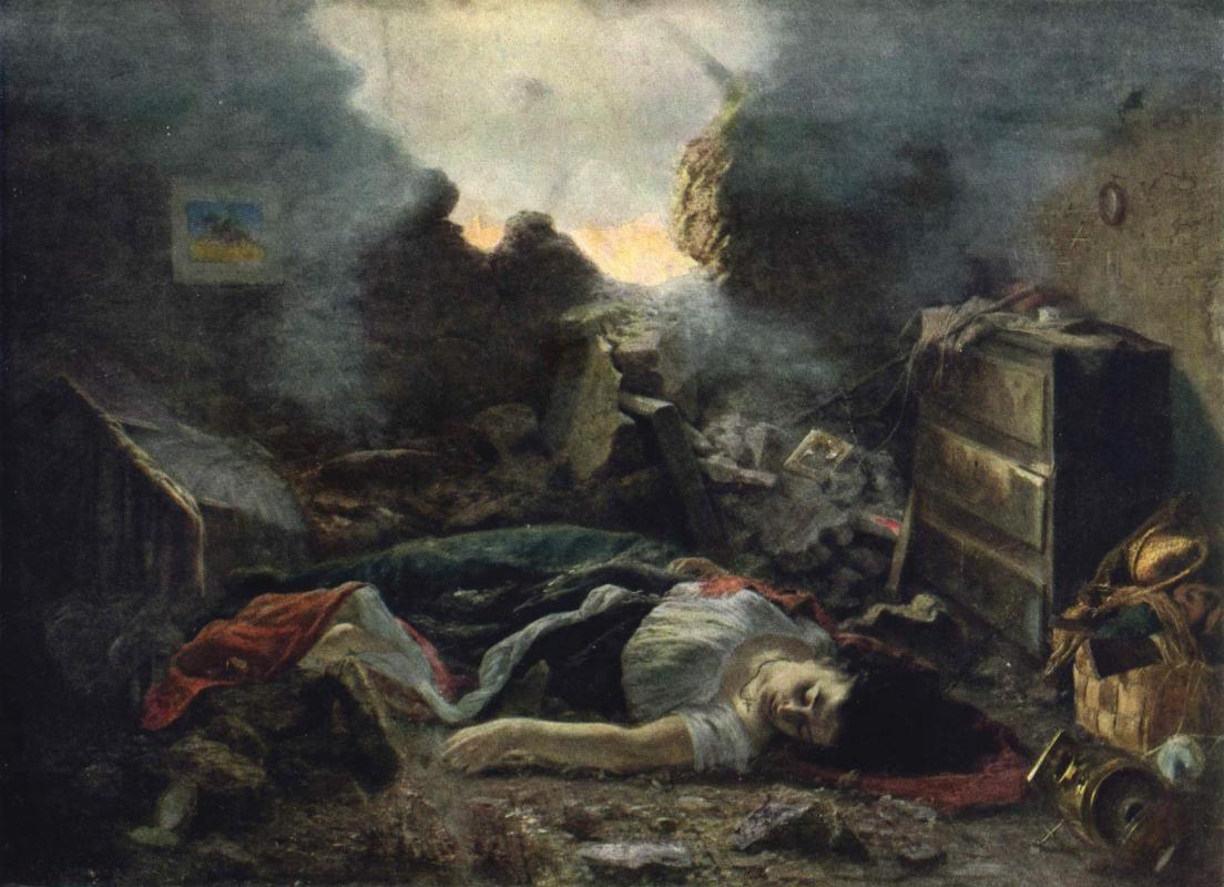 Grigory Grigorievich Myasoedov. In Sevastopol in 1854. Kharkov Art Museum, Ukraine