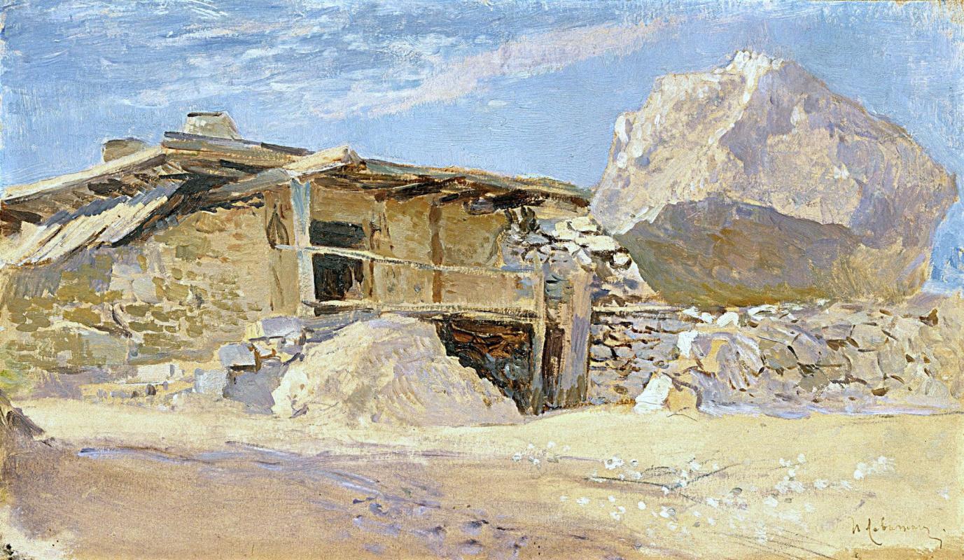 Isaac Levitan. Hut in Alupka
