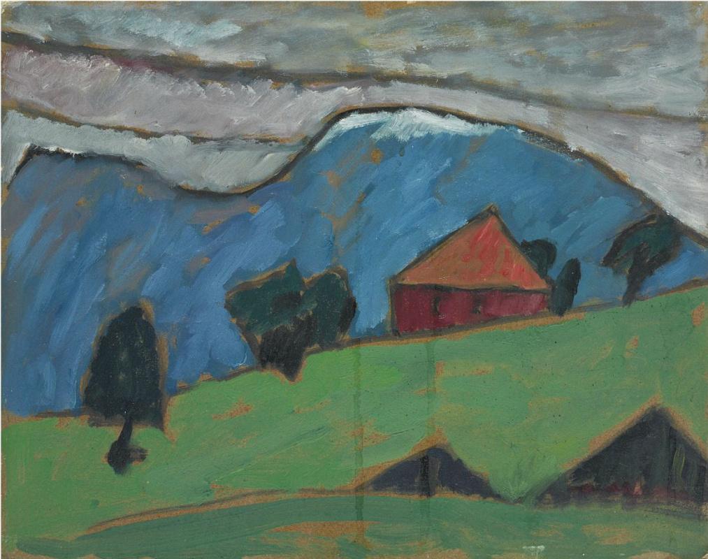 Gabriele Münter. Landscape