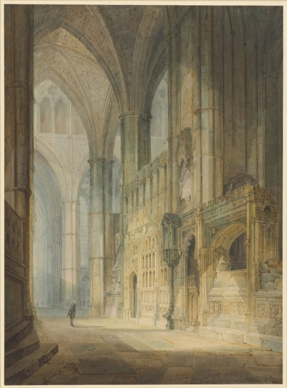Joseph Mallord William Turner. The chapel of St. Erasmus in Westminster Abbey