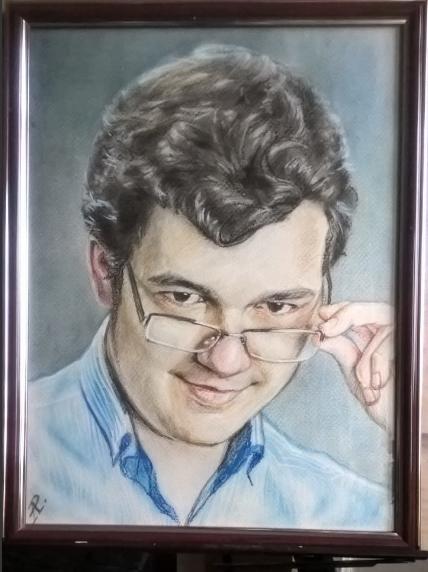 Anatoly Alexandrovich Rybakov. Portrait of a young man