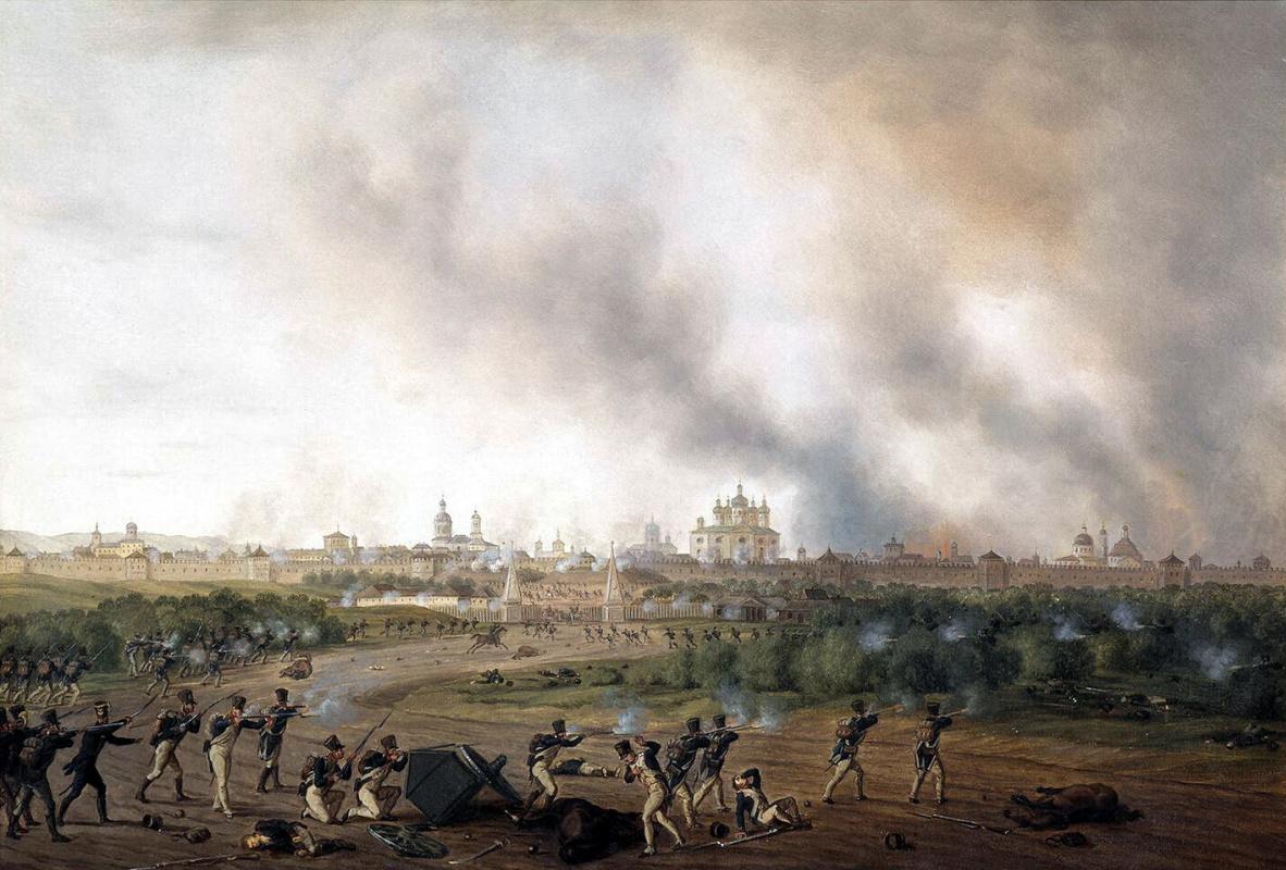 Альбрехт Адам. Сражение за Смоленск 18 августа 1812 г.
