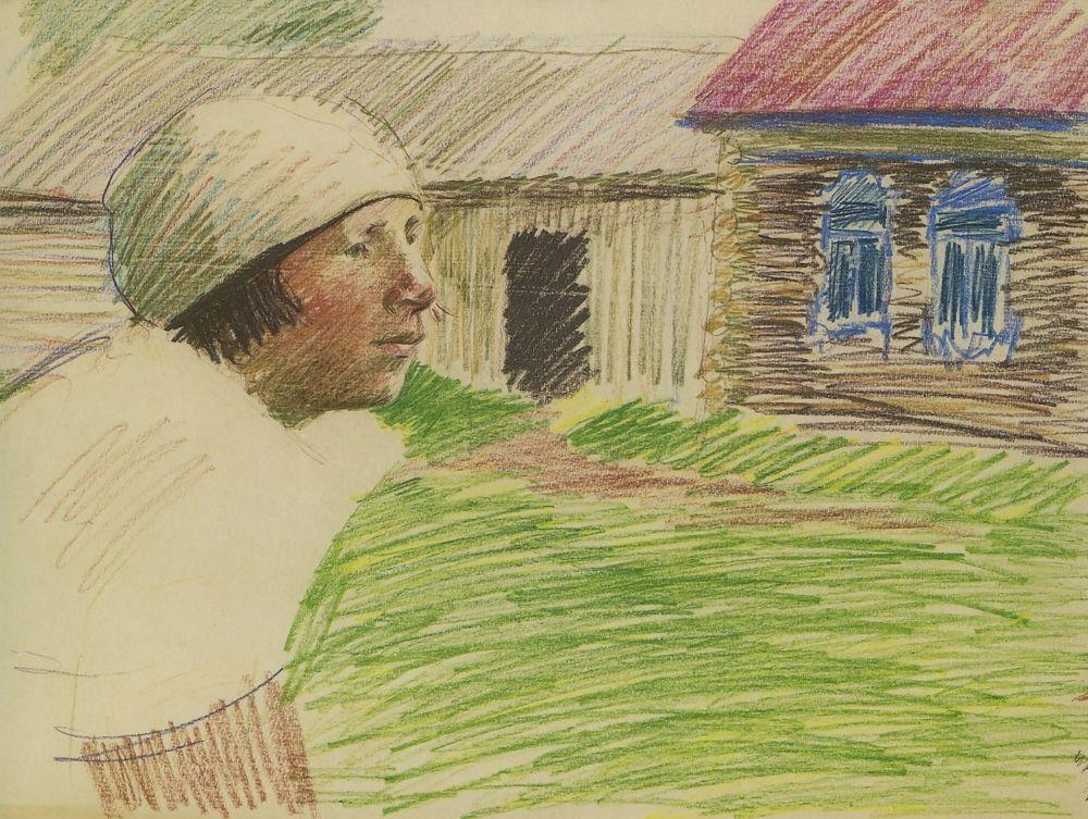 Аминадав Моисеевич Каневский. Портрет жены