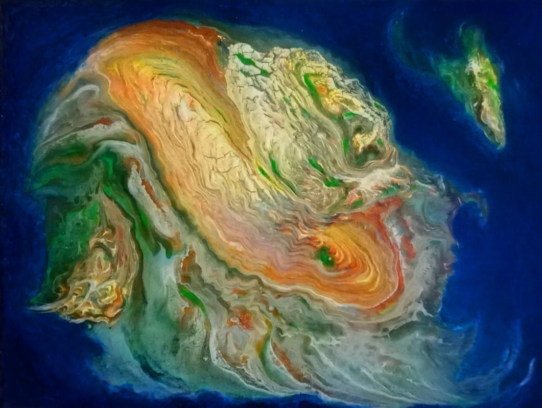 Vasiliy Mishchenko. Abstract 0219 Atoll Acrylic