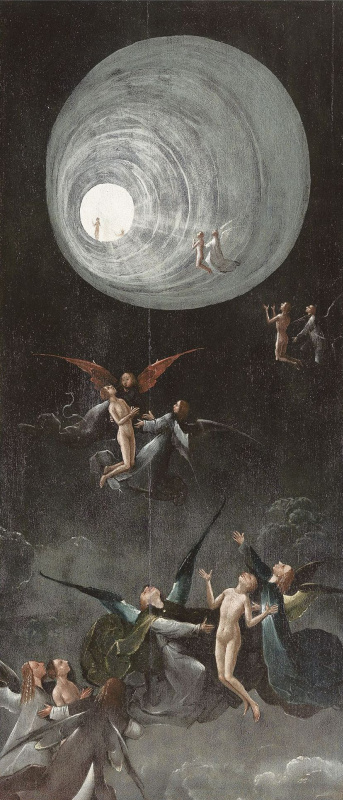 Hieronymus Bosch. The ascension of the righteous. The polyptych Visions of the underworld (Blessed and cursed). The left panel