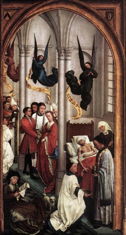 Rogier van der Weyden. The seven sacraments. Fragment