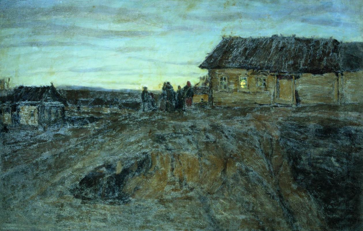 Станислав Юлианович Жуковский. Деревня ночью