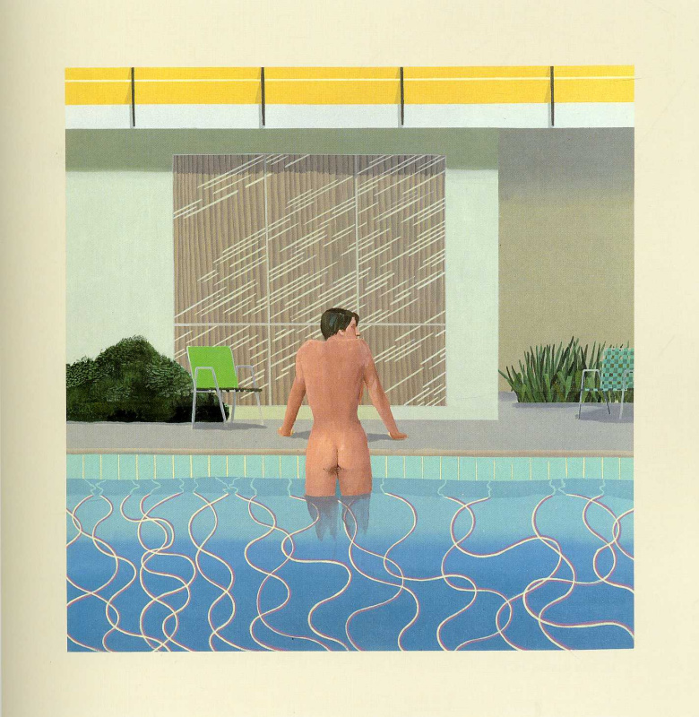 David Hockney. Peter gets out of the pool Nick