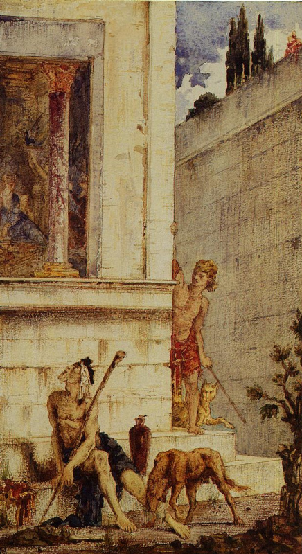 Gustave Moreau. Wicked Rich and Poor Lazarus